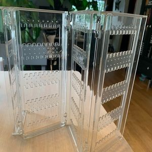 Container Store acrylic accordion earring holder